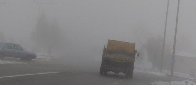 Seydişehir' de  Yoğun sis ulaşımı etkiliyor