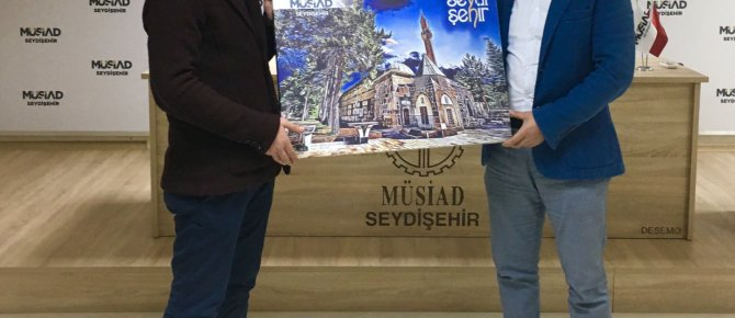 """MÜSİAD Seydişehir 25 Aralık 2017 Pazartesi Günü Avukat-Arabulucu Mustafa AKMAN sunumuyla """"İŞ HUKUKUNDA ZORUNLU ARABULUCULUK"""" konferansı gerçekleştirdi."""