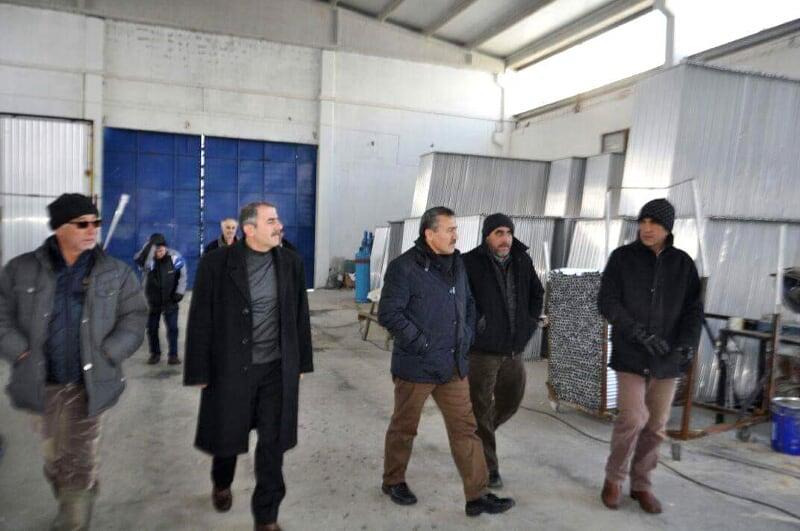 Başkan Tutal'dan kar mağduru esnafa ziyaret