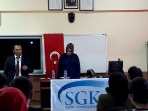 Seydişehir'de Öğrencilere SGK Eğitimi Verildi