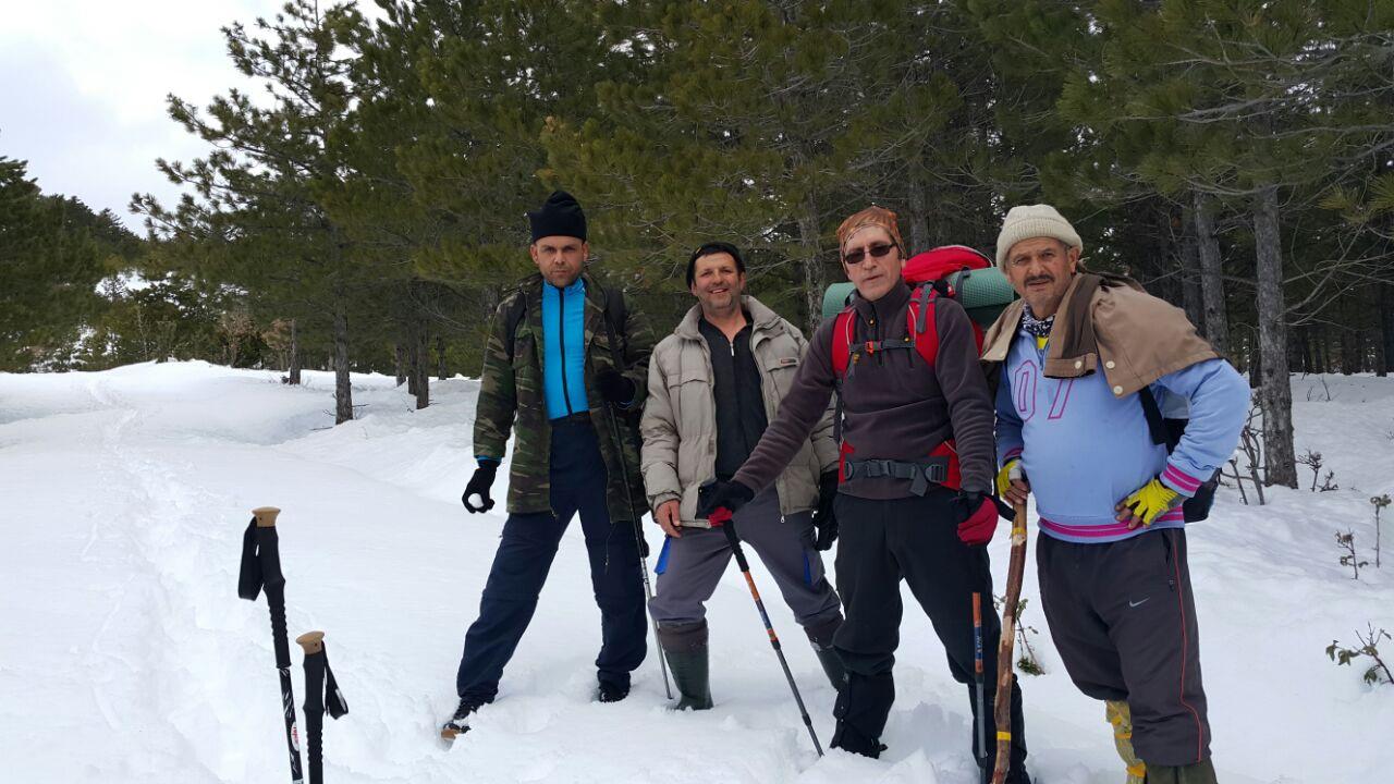 Seydişehirli Dağcılar Üç Metre Karda Yürüyüş Yaptılar