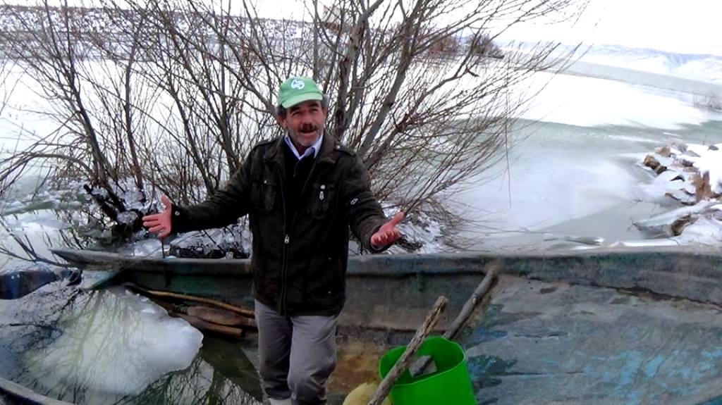 Seydişehir'li balıkçılar don nedeniyle avlanamıyor