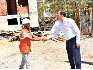 Başkan Altay Seydişehir KOMEK Binası İnşaatını İnceledi