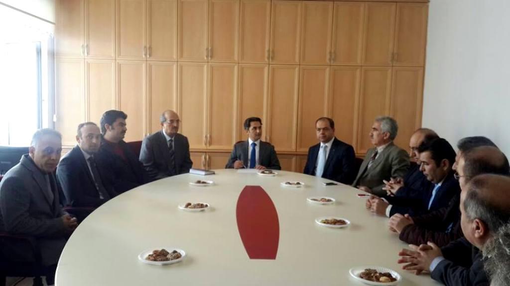Kaymakam Erdoğan, okul müdürleriyle toplantı yaptı