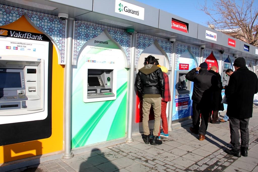 Seydişehir'de Bankamatiklerde dondu