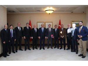 TGK Yönetimi, Dışişleri Bakanı  Çavuşoğlu'nu ziyaret etti