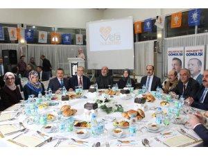 Ak Parti teşkilatı vefa yemeğinde buluşt