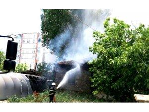 Kullanılmayan binada çıkan yangın, söndürüldü