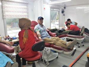 Seydişehir'de Kızılay'a kan bağışı yapıldı