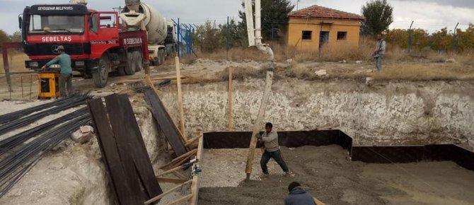 Tepecik köyüne su deposu yapılıyor