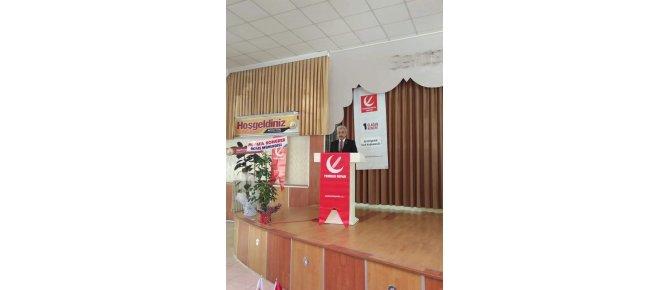 Yeniden Refah Partisi Seydişehir 1. Olağan Kongresi belediye düğün salonunda gerçekleşti