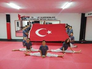 Sevinç Kardeşler taekvondo spor salonu 2020 yılı kuşak imtihanına