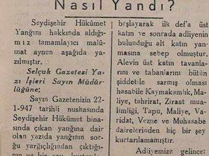 Seydişehir Hükümet Konağı Nasıl Yandı?