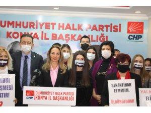 CHP Kadın Kolları Genel Başkanı Aylin Nazlıaka kadın şiddete 'dur' demek için Konya'ya geldi