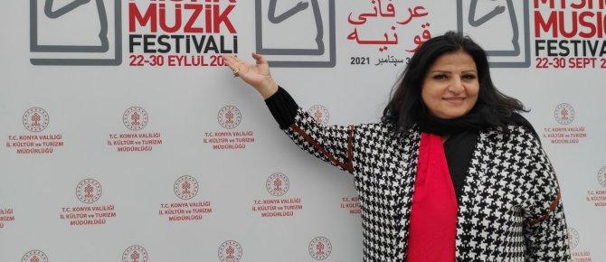 Lübnanlı Ses ve Sinema Sanatçısı Jahide Wehbe Konser İçin Konya'ya Geldi